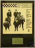 SPECIALS  -   THE SPECIALS -  Framed LP Cover